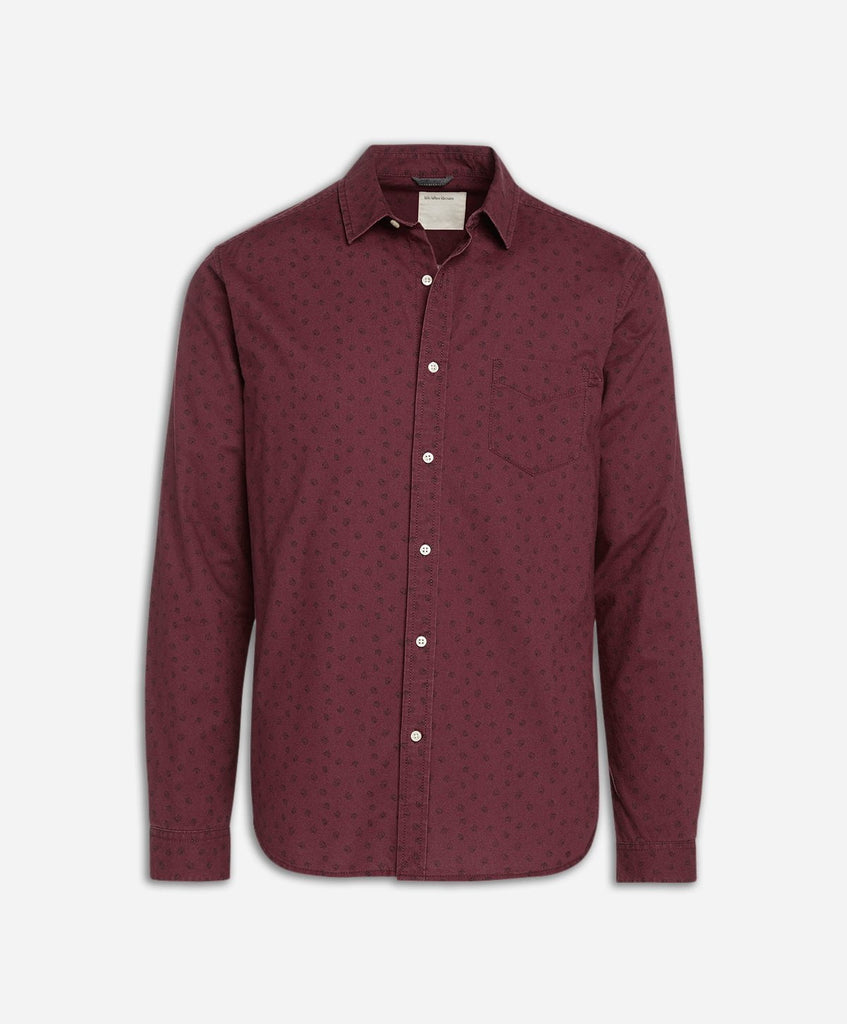 Maplewood Print Shirt - Little Burgundy