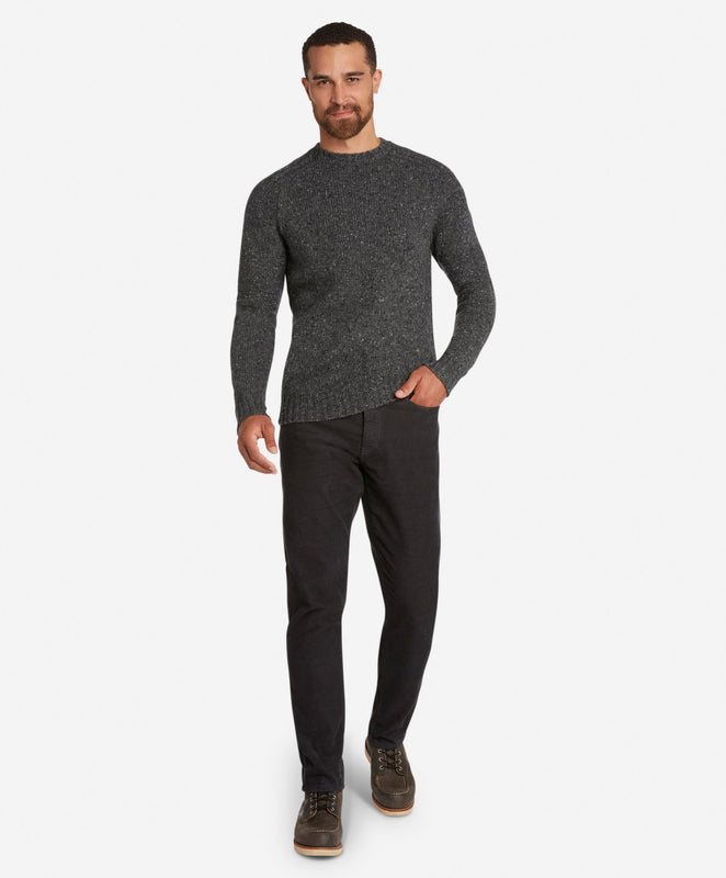 Mason Merino Crew Sweater  -  Heather Charcoal
