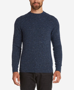 Mason Merino Crew Sweater  -  Navy