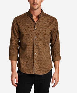 Mistletoe Print Shirt - Golden Olive