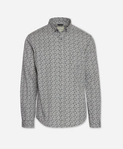 Mistletoe Print Shirt - Heather Grey