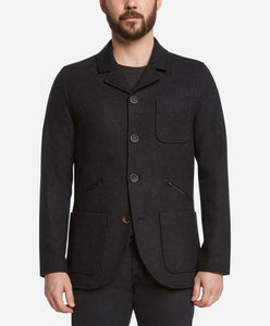 Modern Riding Coat - Heather Black