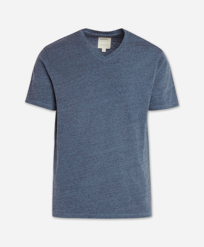 Short Sleeve Modern V Neck - Blue Agave