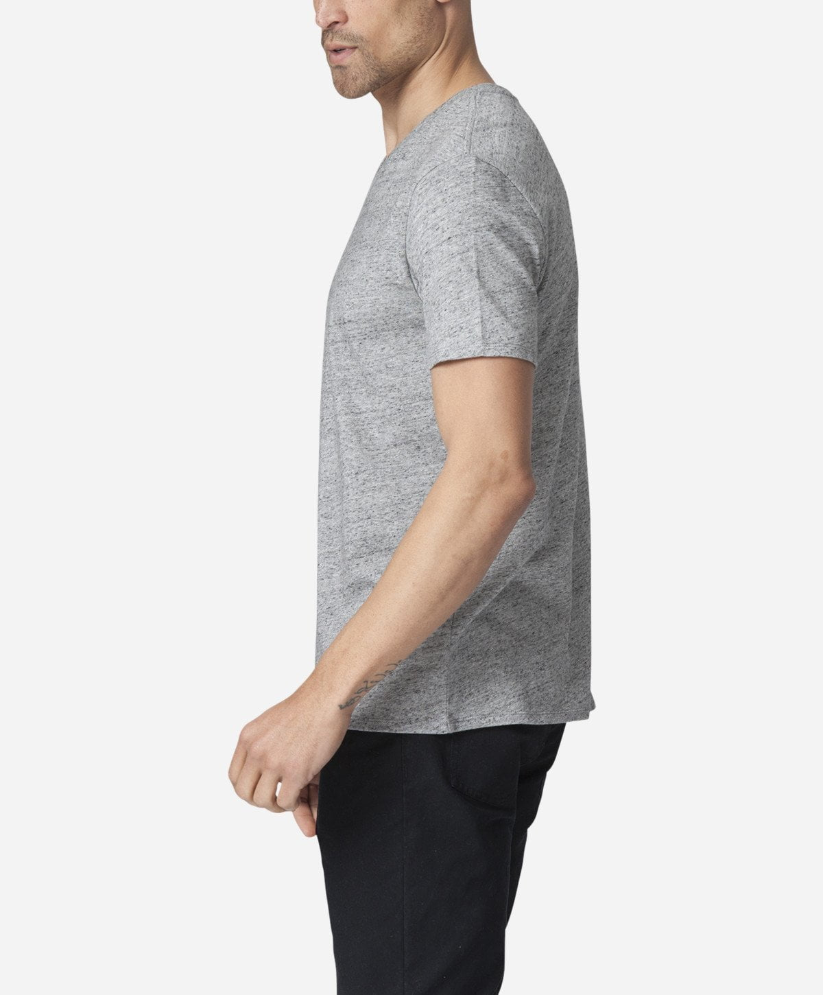 Modern V-neck - Heather Grey