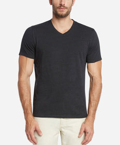 Short Sleeve Modern V Neck - Black