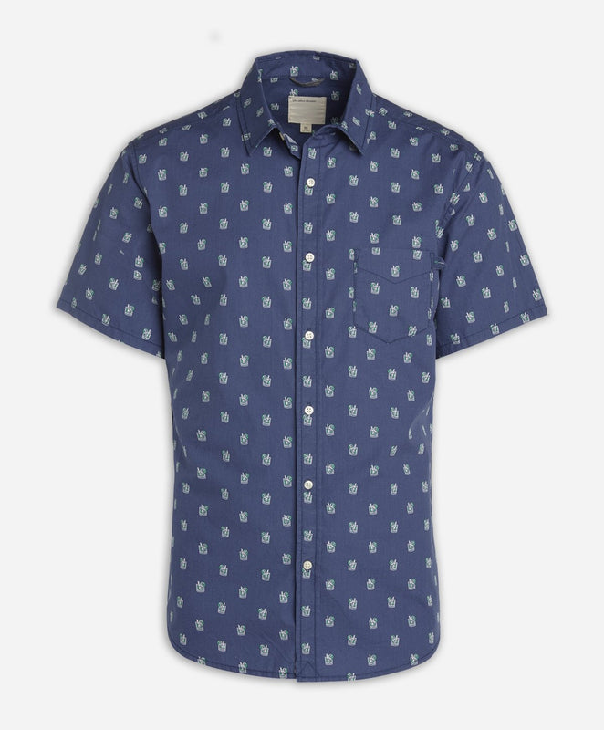 Short Sleeve Mojito Shirt - Ocean Blue
