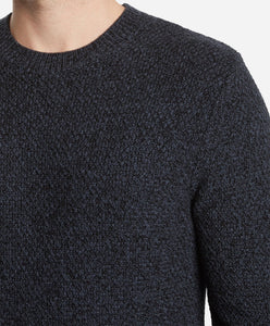 Montreal Wool Crew Sweater - Navy