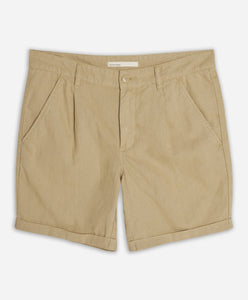 Newcastle Linen Short - Khaki