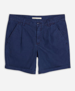 Newcastle Linen Short  - Ocean Blue