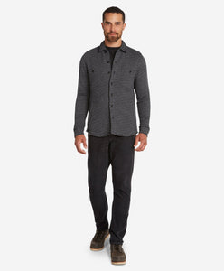 Nightingale Shirt Jacket  -  Black
