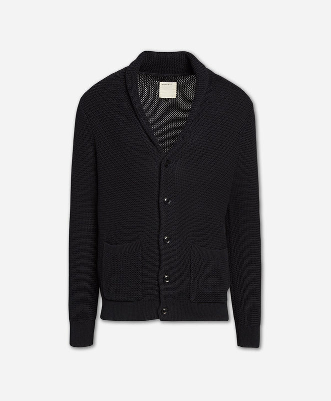Old Port Cardigan Sweater - Black