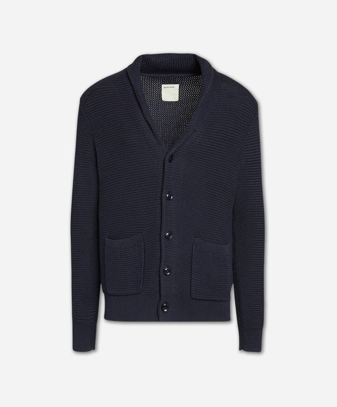Old Port Cardigan Sweater - Navy