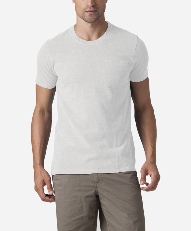 Short Sleeve Pocket Tee - White