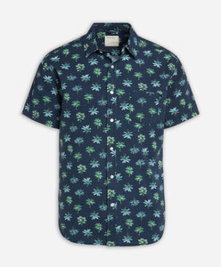 Short Sleeve Rainforest Shirt - Ocean Blue