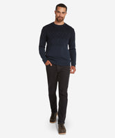 Range Lambswool Crew Sweater  -  Navy