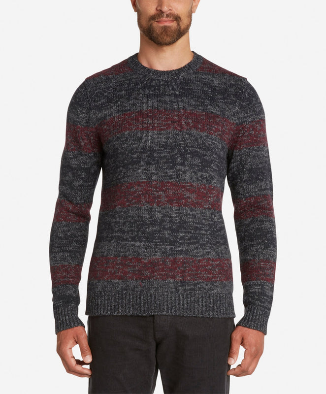 River Wool Crew Sweater  -  Oxblood