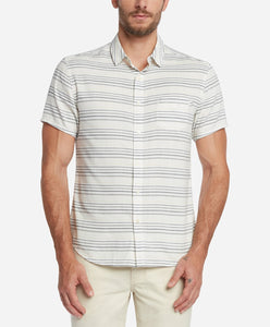 Short Sleeve Acapulco Stripe Shirt - White