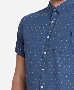 Short Sleeve Alameda Print Shirt - Blue Agave