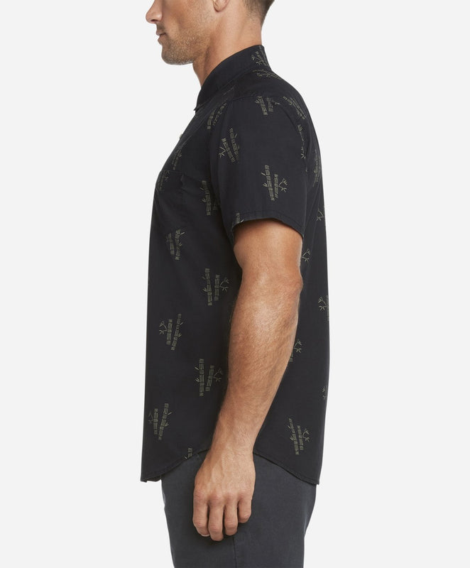 Short Sleeve Bamboo Shirt - Black