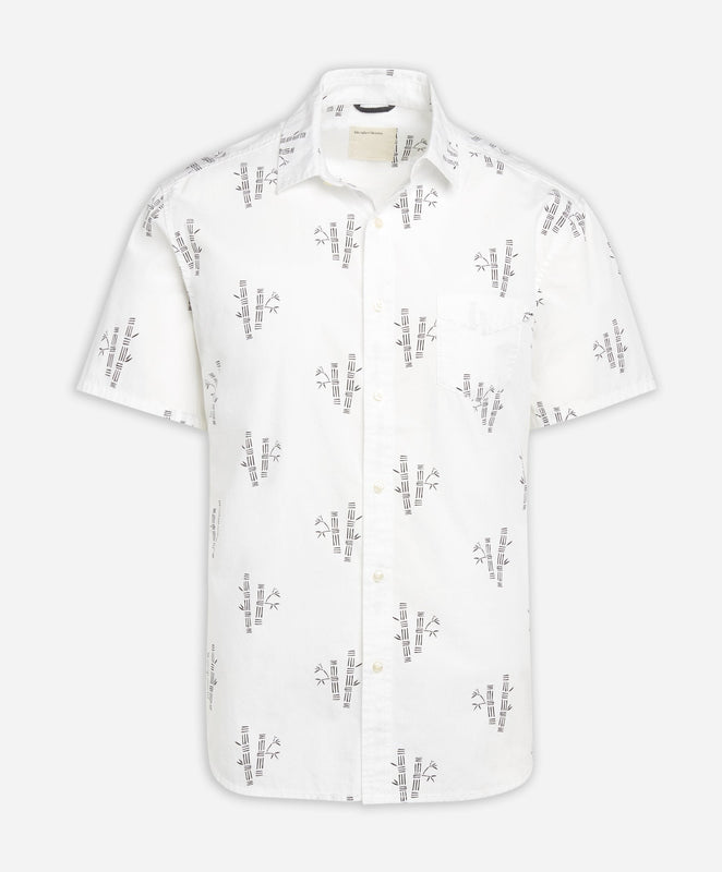 Short Sleeve Bamboo Shirt - White