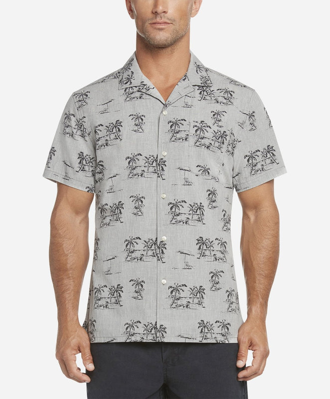Short Sleeve Byron Bay Shirt - Heather Grey
