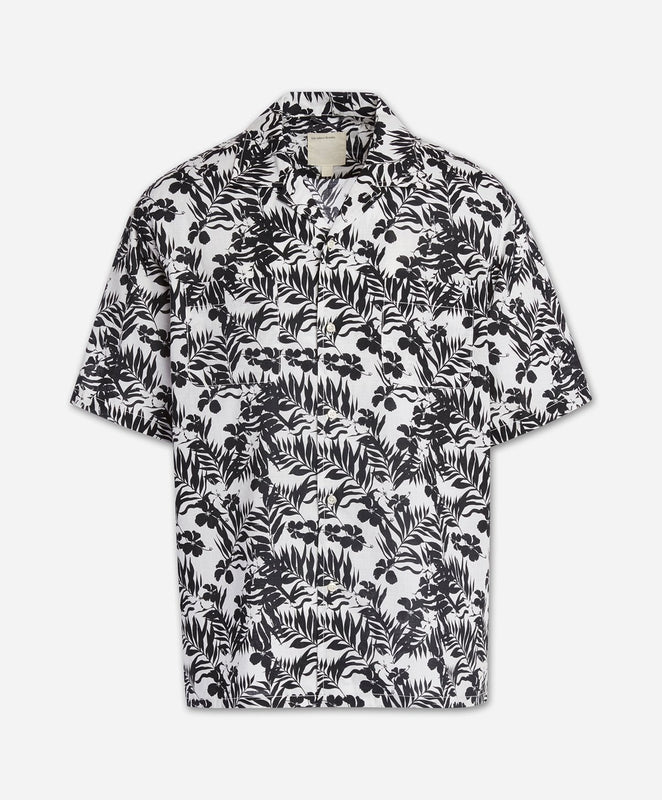 Short Sleeve Cozumel Print - White