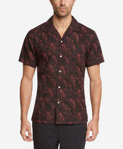 Short Sleeve Hawaiian Tropic Shirt - Kona Berry