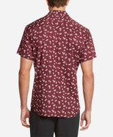 Short Sleeve Hibiscus Print Shirt - Kona Berry