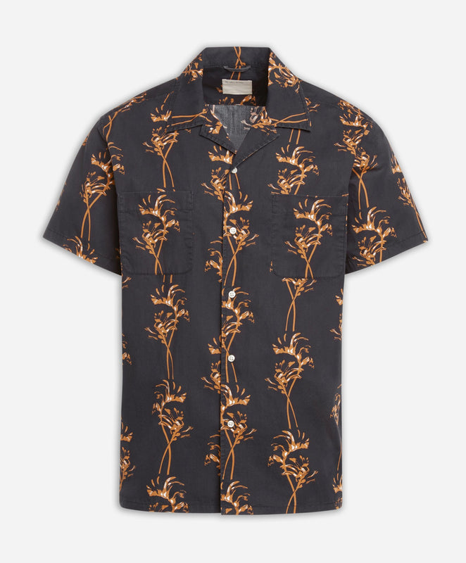 Short Sleeve Kanga Shirt - Black