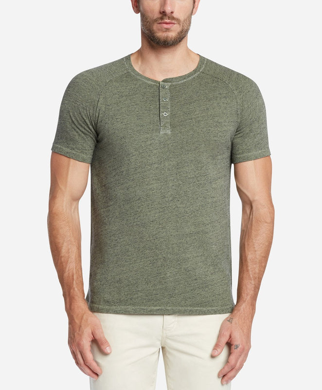 Short Sleeve League Henley - Olive