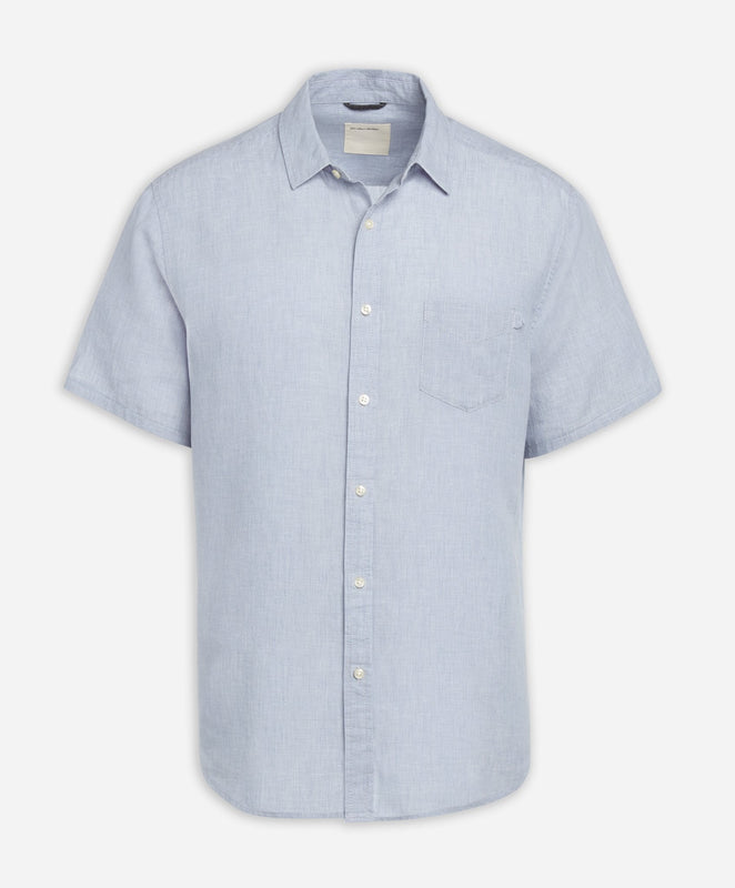 Short Sleeve Linen Shirt - Stonewash