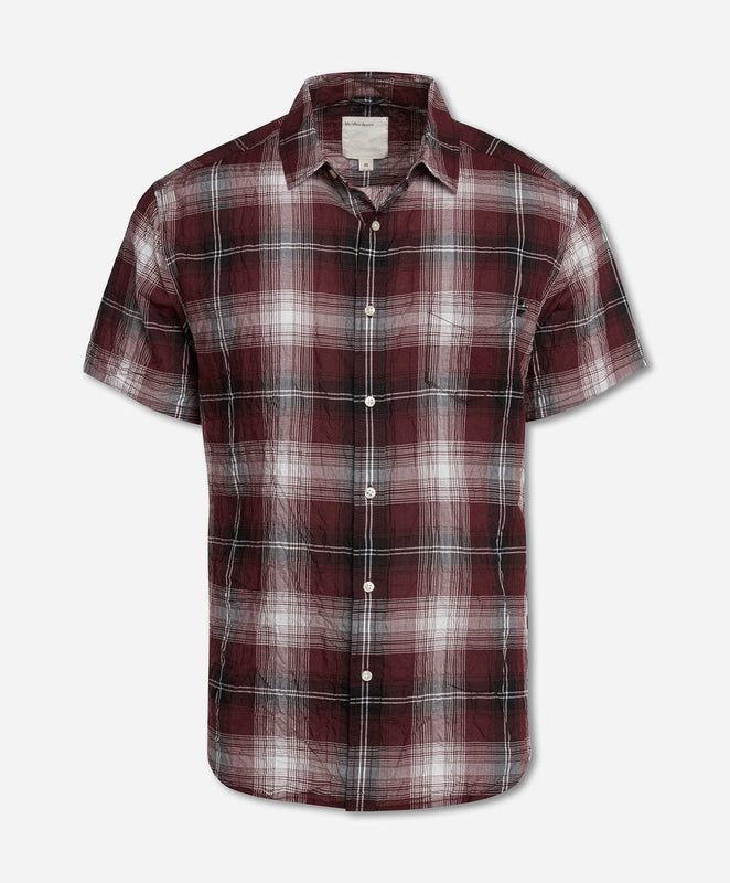 Short Sleeve Mahalo Plaid Shirt - Kona Berry