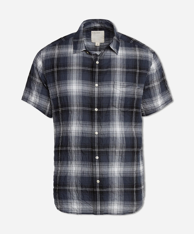 Short Sleeve Mahalo Plaid Shirt - Navy