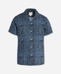 Short Sleeve Otomi Shirt - Blue Agave