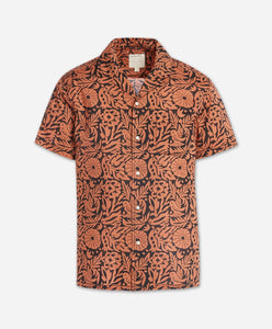 Short Sleeve Otomi Shirt - Terra Cotta