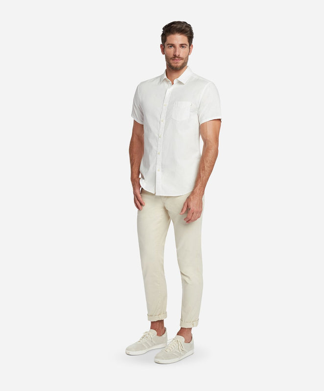 Short Sleeve Oxford Shirt - White