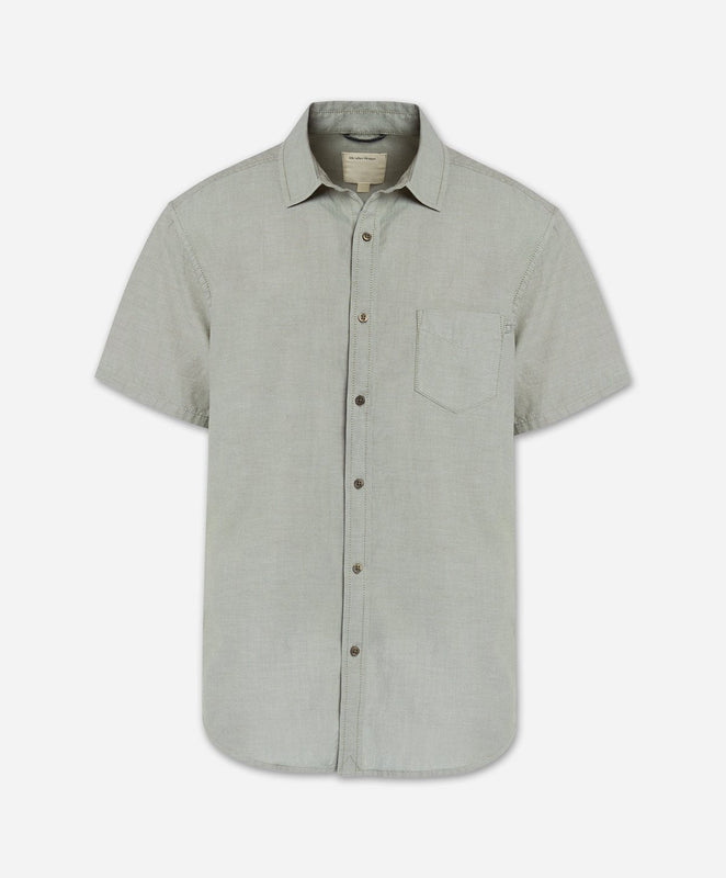 Short Sleeve Oxford Shirt - Olive