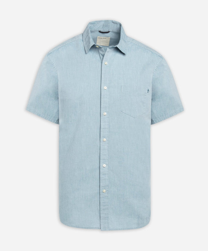 Short Sleeve Oxford Shirt - Turquoise Bay