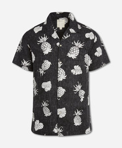 Short Sleeve Pina Colada Shirt - Black