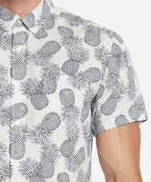 Short Sleeve Pineapple Express Shirt - White