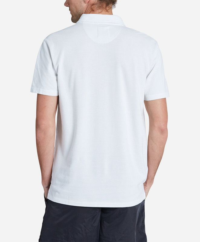Short Sleeve Pique Rugby - White