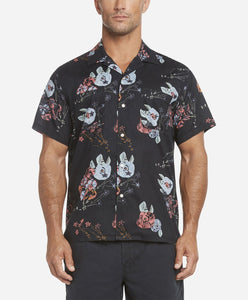 Short Sleeve Royal Botanic Shirt - Black