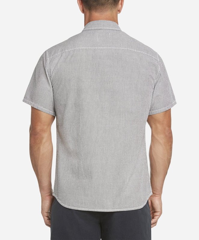 Short Sleeve Seersucker Shirt - White