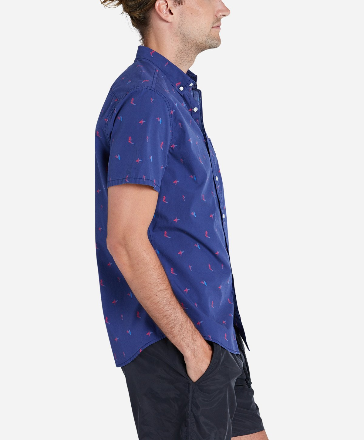 Tidal Short Sleeve Shirt - Blue Marine