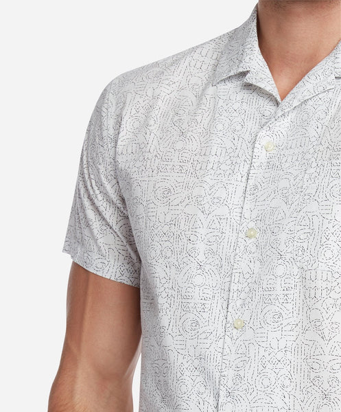Totem Short Sleeve Shirt - White