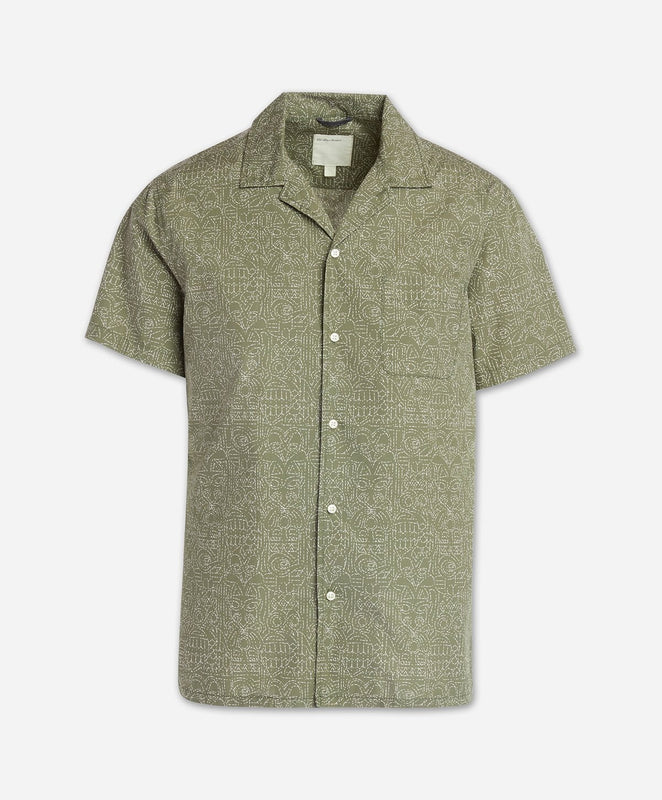 Totem Short Sleeve Shirt - Olive