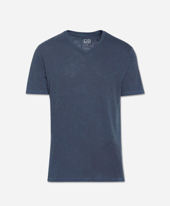 Short Sleeve V Neck - Blue Blood