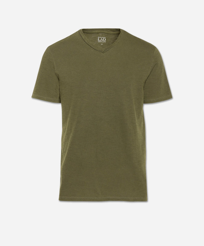 Short Sleeve V Neck - Field Green