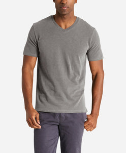 Short Sleeve V Neck - Medium Grey