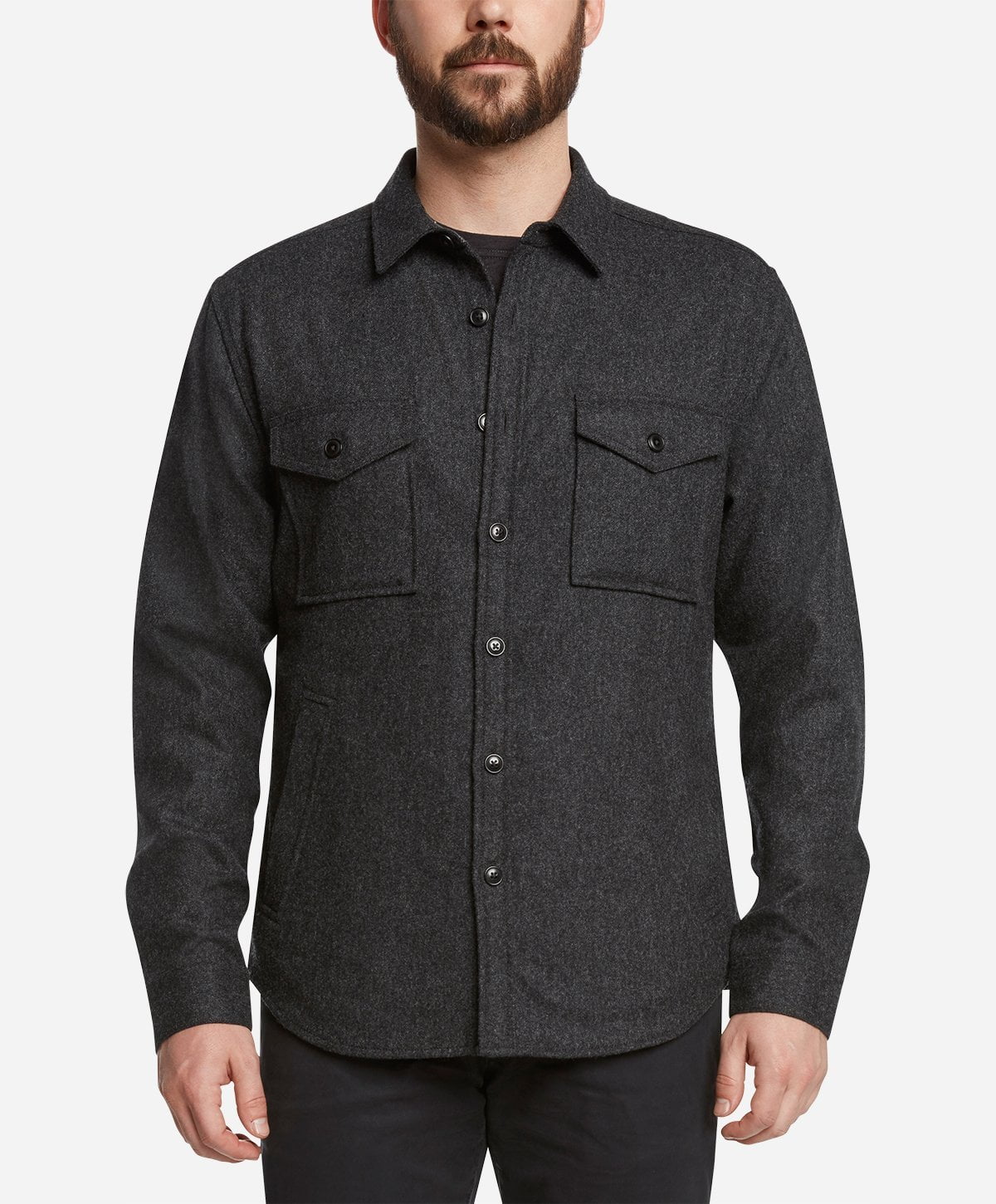 Sahara Shirt Jacket - Heather Charcoal